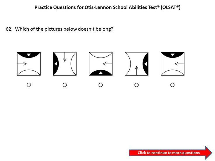 Practice OLSAT questions for 3rd grade to 4th grade....Otis-Lennon School Ability Test® #OLSAT