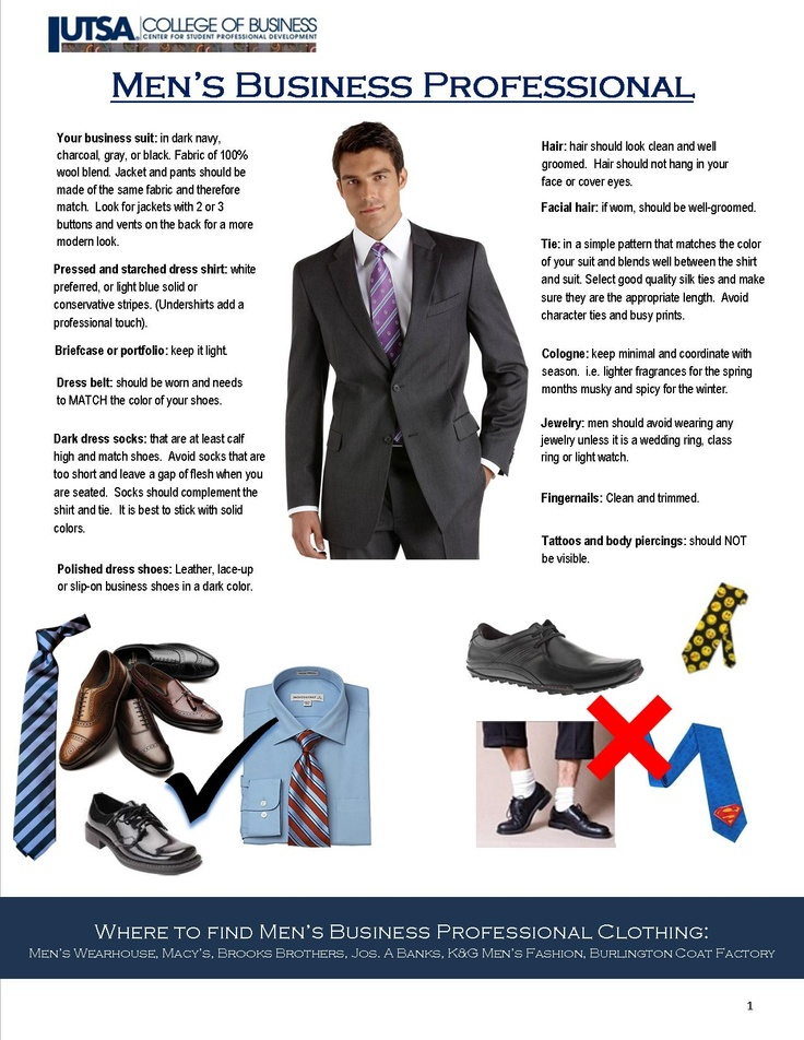 CSPD Tips on Men's Business Professional