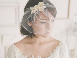 {Beauté} Alternative au voile de mariée: la voilette - par PrettySouthWeds