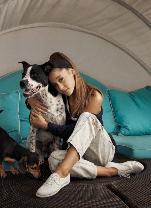 Ariana grande dogs photoshoot | We Heart It | ariana grande, dog ...