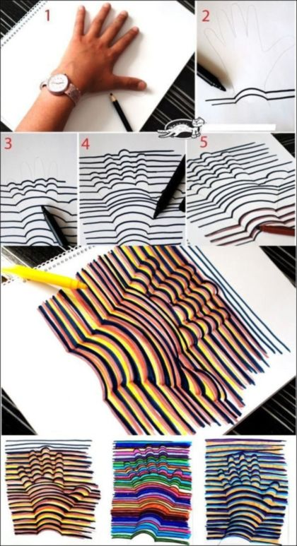 3D hand drawings