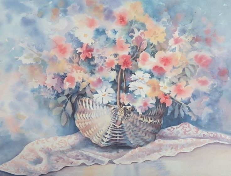 BASKET OF FLOWERS BY ERNIE FISH