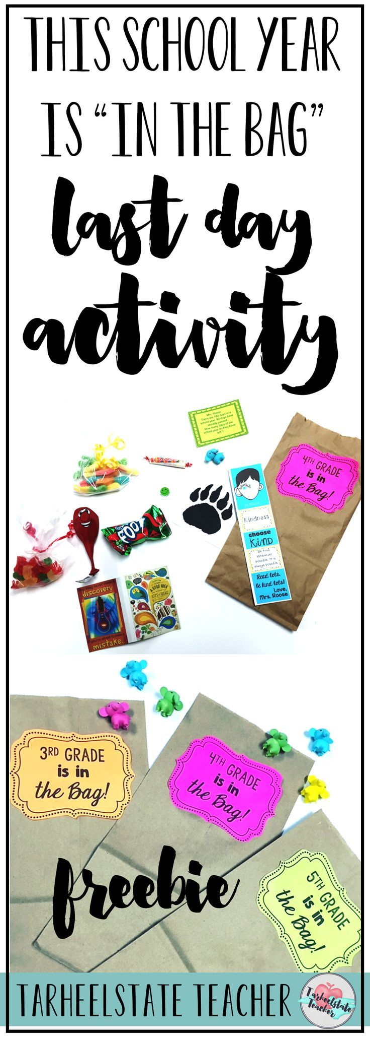 "This Year is ""In the Bag!"" {Easiest Last Day of School Activity Ever!}"