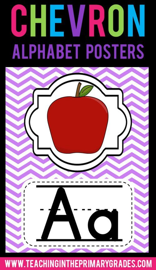 Chevron Alphabet Posters- I am always looking for ideas to add to my chevron theme classroom. These posters are easy to print and are great decorations to add to your chevron classroom decor.