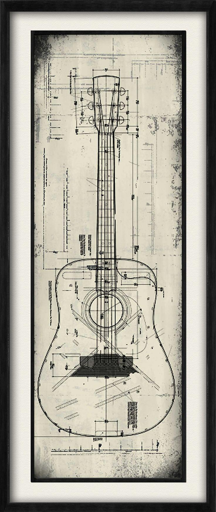 Guitar II Framed Graphic Art