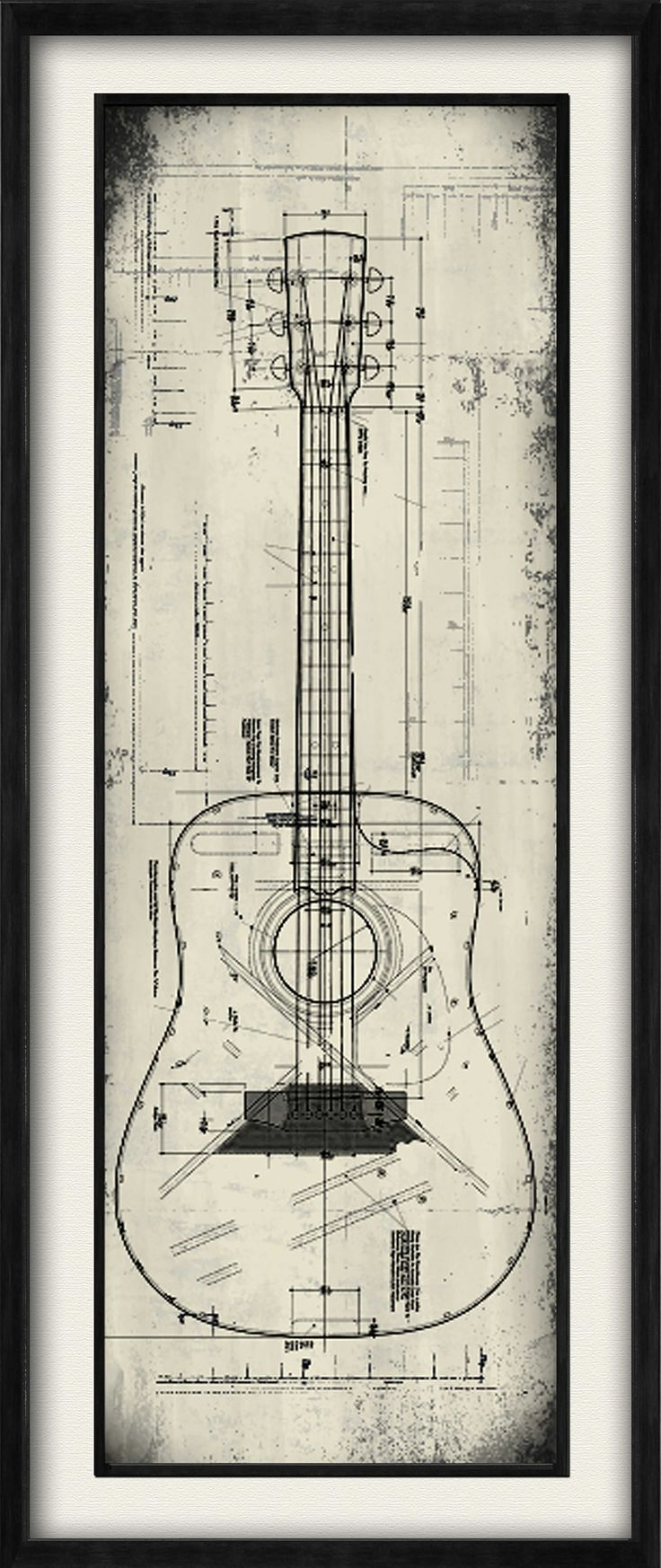 Guitar II Framed Graphic Art