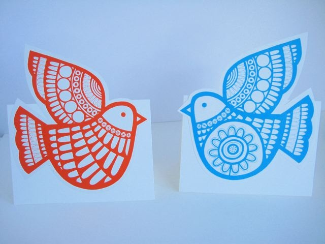 Jane Foster Blog: Screen printed Christmas cards