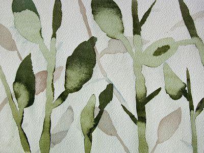 """""""Planter i solen"""", 25 x 34 cm.  Kjell Ekström arbejder på en serie af akvareller i dette tema"""