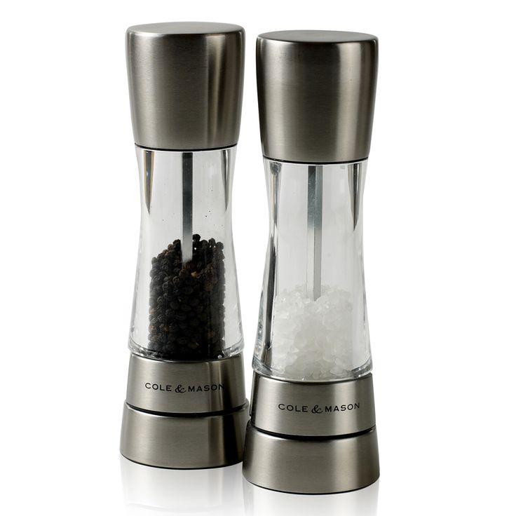 Derwent Salt og Pepper,Kvern, Akryl/Rustfritt Stål - Cole & Mason - Cole & Mason - RoyalDesign.no