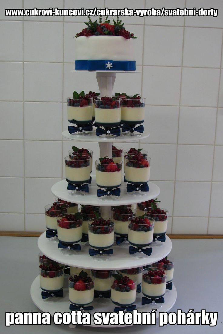 panna cota svatební dort
