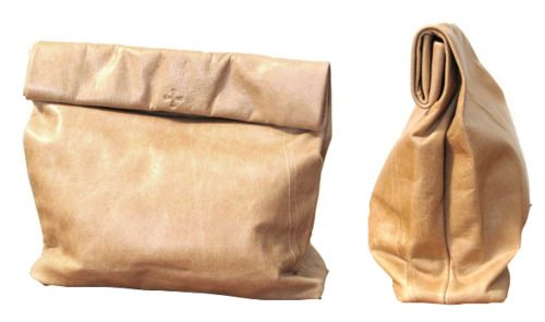 nifty clutch!Diy Ideas, Brown Paper Bags, Diy Fashion, Brown Bags, Lunches Bags, Shops Bags, Clutches Bags, Leather Bags, Tans Leather