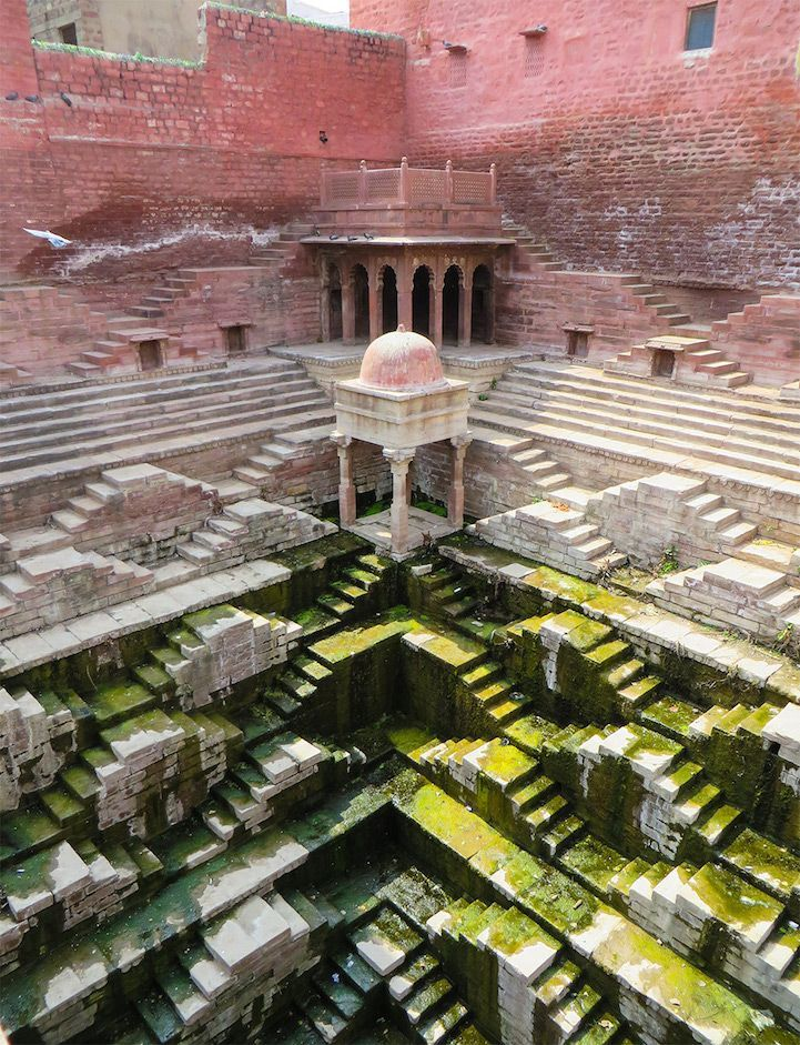 The ancient stepwells in western India.