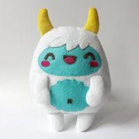 """How to Make a Kawaii Yeti Monster Plush Softie+(via+<a+href=""""http://craft.tutsplus.com/tutorials/sewing/how-to-make-a-kawaii-yeti-monster-plush-softie/"""">craft.tutsplus.com)"""