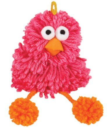 Cuddly Pom Pom Kits - Pink Bird