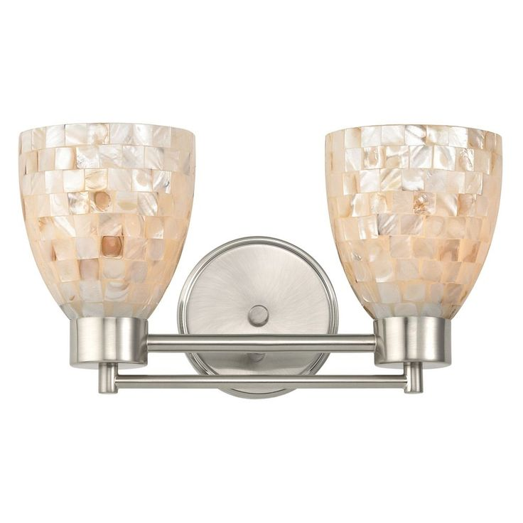 Design Classics Lighting Bathroom Light with Mosaic Glass Glass in Satin Nickel Finish 702-09 GL1026MB