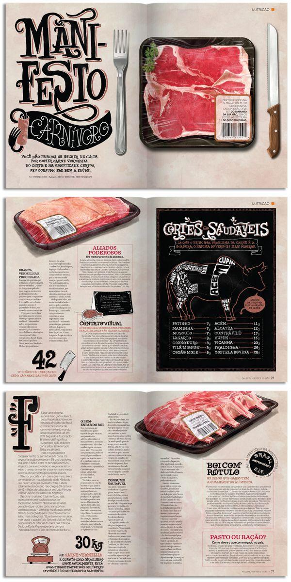 Womens Health Mag by Sérgio Bergocce, via Behance