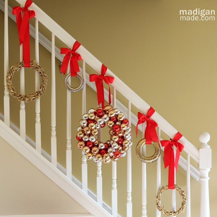 100 Awesome Christmas Stairs Decoration Ideas: 1000+ Images About Christmas Decorating On Pinterest