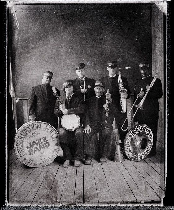 Danny Clinch - Preservation Hall Jazz Band.  Music, Polaroid, Portrait, B & W Photo