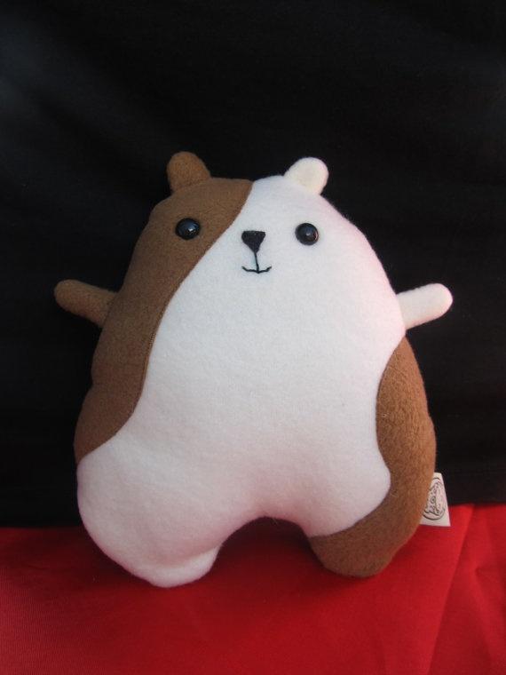 Hamster Plushie by BreakfastBuddys on Etsy, $12.00