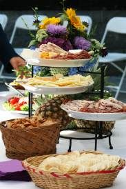 love this plate stand for our cold cuts Chris! Wonder where we can find one?   Cold cuts well-presented are one of many budget wedding food ideas
