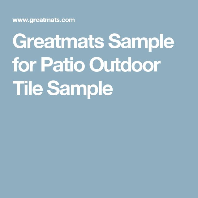 Greatmats Sample for Patio Outdoor Tile Sample