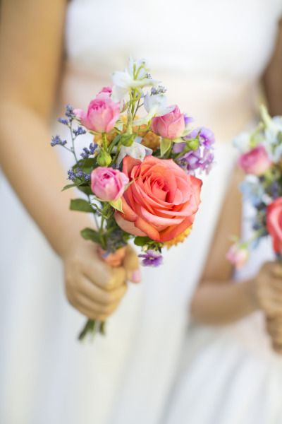 Love the size and structure, don't like the color.   Lavender and rose bridesmaid bouquet. Photography: Raquel Reis Photography - raquelreis.com