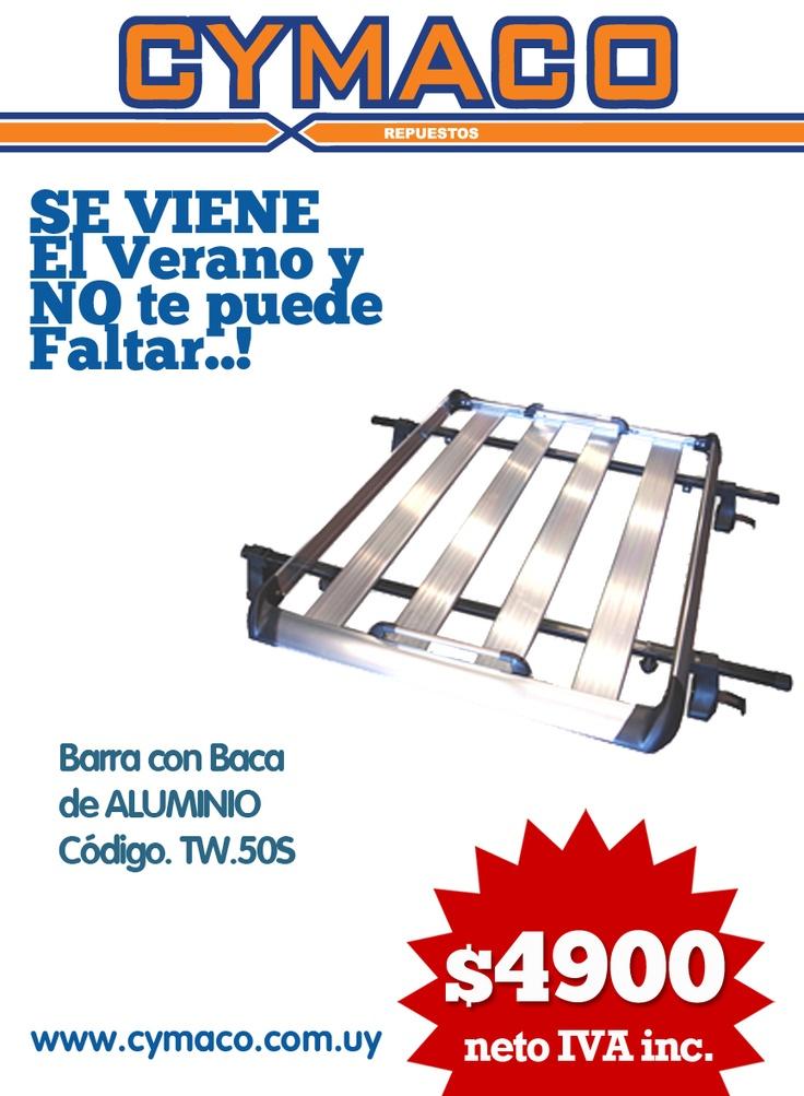 barras de techo c/ baca de aluminio  $4900