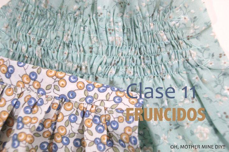 Clase de costura 11. Aprender a hacer y coser fruncidos