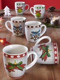Set van 6 koffiemokken