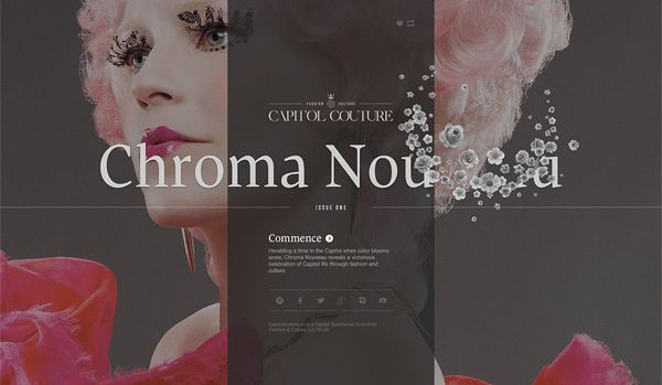 Capitol Couture Tumblr Site by Watson, via Behance