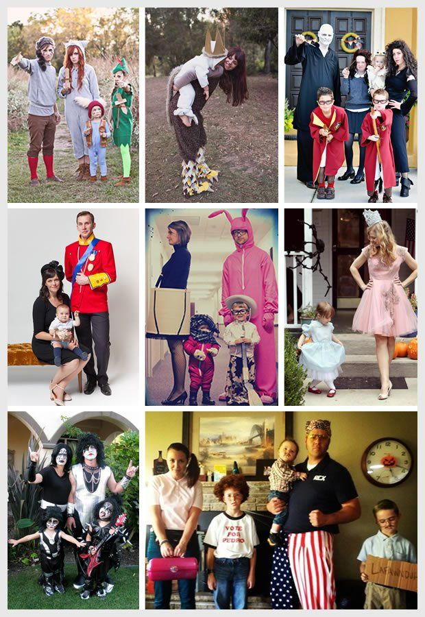 Halloween Costume Ideas for Families or groups | Vicky Barone | 1. Peter Pan and the Lost Boys | 2. Where the Wild Things Are | 3. Harry Potter 4. The Royal Family | 5. A Christmas Story | 6. The Wizard of Oz 7. Kiss | 8. Napoleon Dynamite