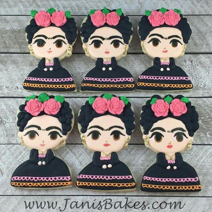 Janis Bakes: Frida Kahlil cookies! Amazing! ♡