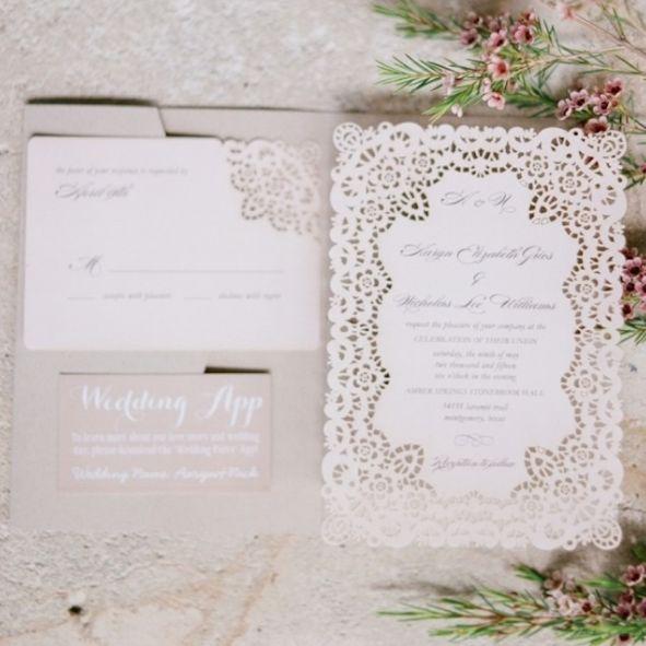 Featured photographer: Julie Paisley; Wedding invitation idea