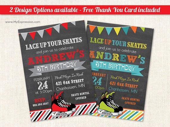 17 Best images about Party Ideas – Hockey Party Invitations