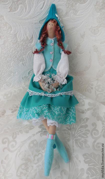 Куклы Тильды ручной работы. Ярмарка Мастеров - ручная работа Бирюзовые льдинки. Handmade.