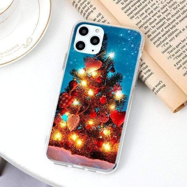 Cartoon Merry Christmas Tree Thin Tpu Soft Cases Nikeairpodcasekeychain In 2020 Iphone Cases Iphone Iphone Cover