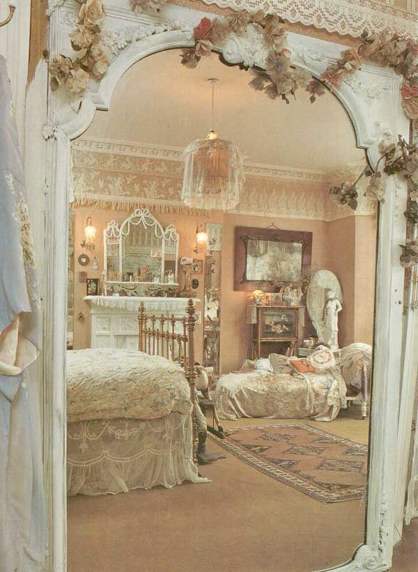 Shabby Chic Bedroom [I love the opening from one room to another - like my first floor living room into family room. meke]