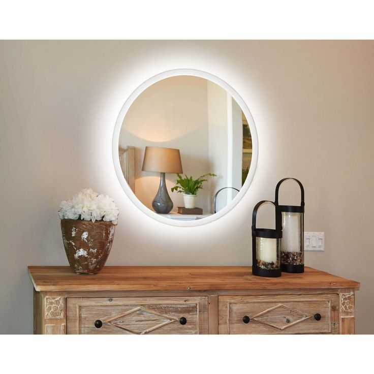Pics Of Innoci Usa Electric LED Lit Round Oval Mirror
