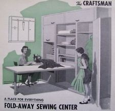 How To Build BUILT IN SEWING / CRAFT / HOBBY CENTER W Fold Away TABLE DIY  ARTCLE | Crafty | Pinterest | Craft, Sewing Rooms And Room