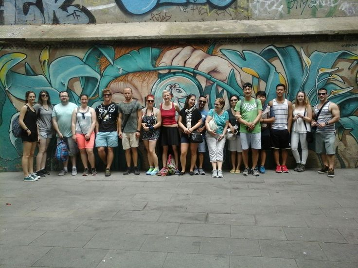 Free Gaudi tour of Barcelona by HostelCulture 2:30 in front of the gothic cathedral (is this sagrada familia?)