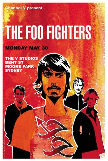 The Foo Fighters concert poster by Micah Smith