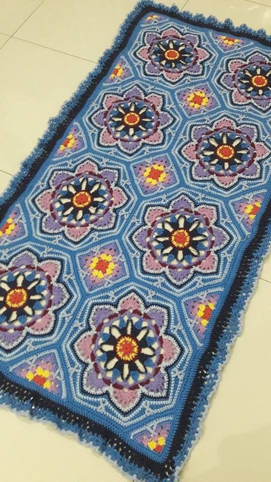 Liongs beautifully coloured version of Janie Crows Persian Tiles