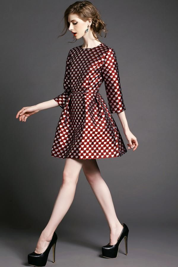 Doresuwe.com SUPPLIES 2015ヨーロッパ新しい秋欧米大物ファッションAーライン 着痩せワンピース デートワンピース (5)
