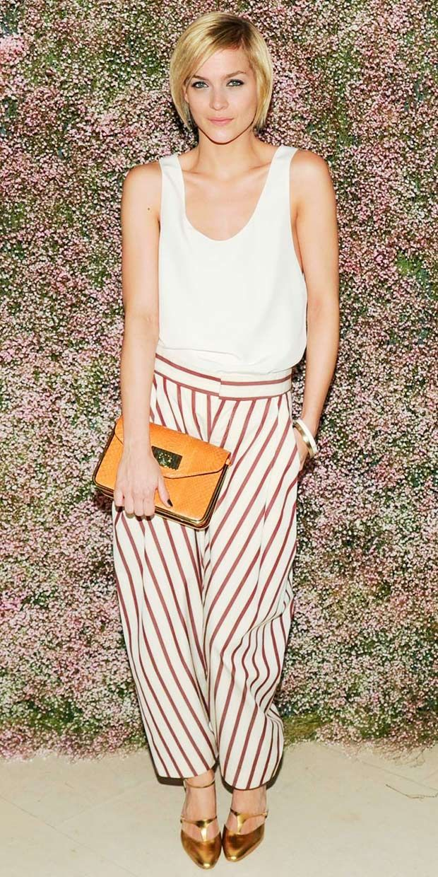 shop Leigh Lezark's stripey look