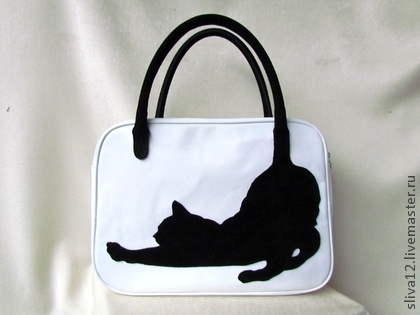 "Leather handbag ""Cat"""