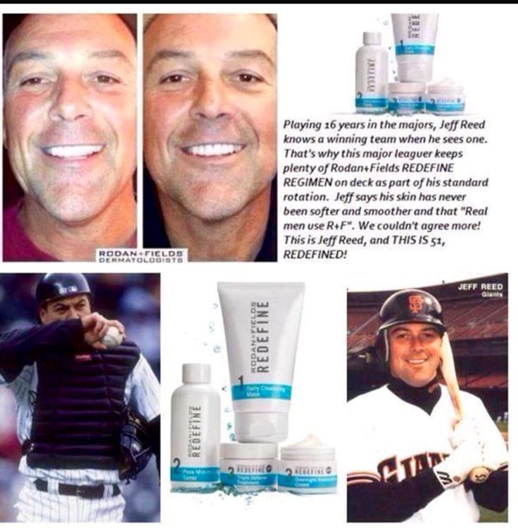 Real men look after their skin. Jeff Reed had great results using the Rodan + Fields Redefine regimen.