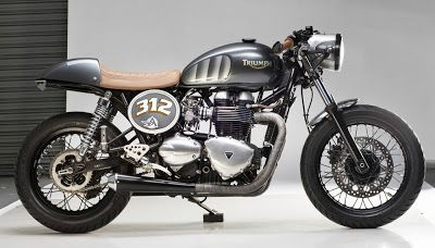 Triumph Thuxton 312 Cafe Racer by Analog Motorcycles - Lsr Bikes