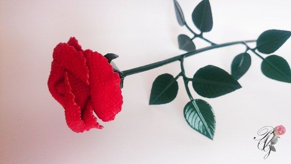 Unique PAG needlepoint red Rose | Percsi Art Needlepoint