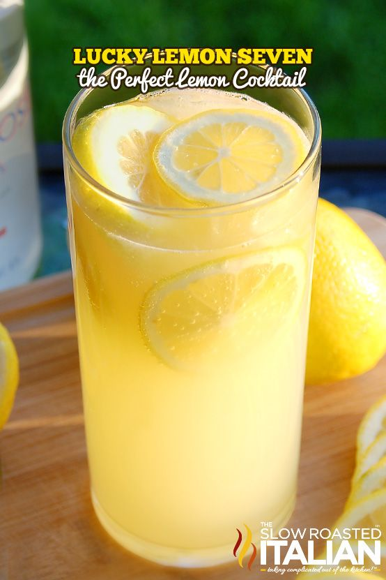 Lucky Lemon Seven - The perfect lemon cocktail from theslowroasteditalian.com #cocktail #recipe