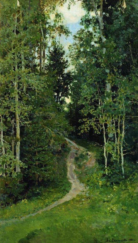 Аполлинарий Васнецов «Осинки. Абрамцево» (1886).